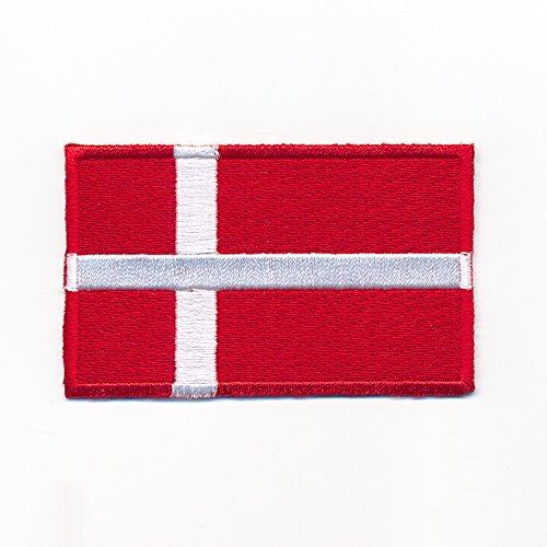 40 x 25 mm Danemark Copenhague Europe Drapeau Flag Écusson thermocollant 0947 A de hegibaer