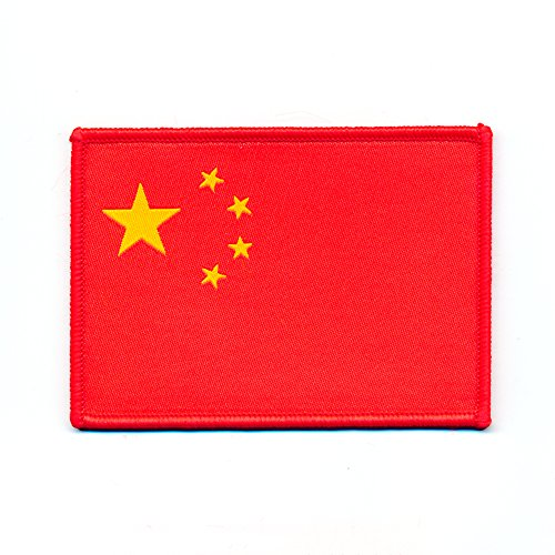 50 x 40 mm volksrepub Lik la Chine drapeau flag Pékin Patch Thermocollant Badges 0867 A de hegibaer