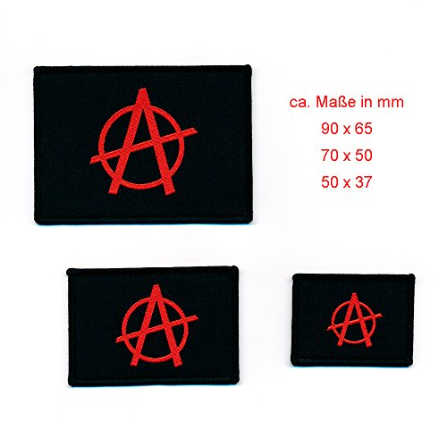 Lot de 3 Anarchy Anarchie emblème drapeau flag Patch écusson thermocollant 0856 de hegibaer