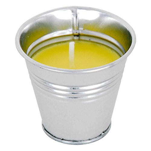 1 BOUGIE EN POT CITRONNELLE 6 X 5.8 CM METAL ANTI MOUSTIQUE DECO