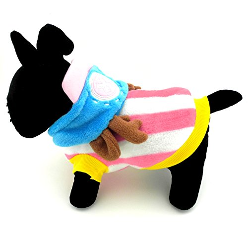 Smalllee Lucky Ranger Petmall Chien Chat Chaud Flanelle Chopper Capuche pour Homme Halloween de smalllee_lucky_store